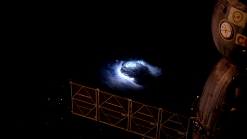 Thunderstorm seen from the space station